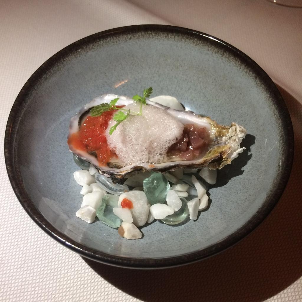 oester met granita van wodka