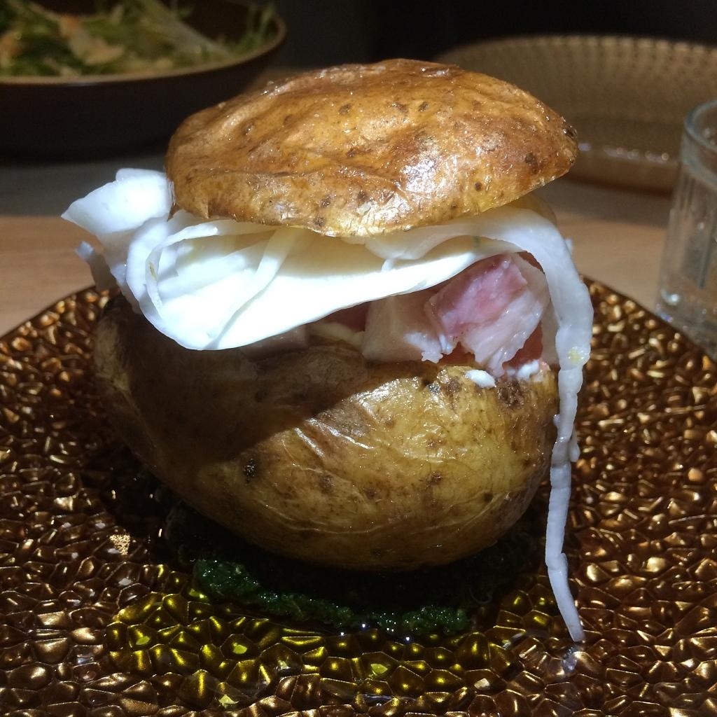 aardappel met gerookte forel